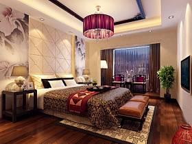 中式中式风格新中式卧室电视背景墙效果图