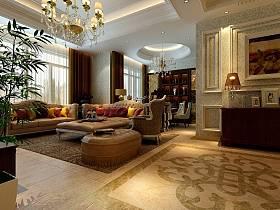 新古典古典新古典风格古典风格客厅装修图