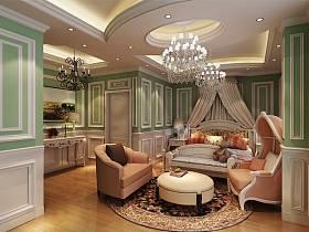 欧式古典欧式风格儿童房吊顶设计案例展示
