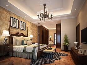 美式臥室吊頂設計方案