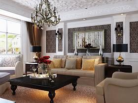 歐式歐式風格客廳背景墻沙發客廳沙發裝修案例