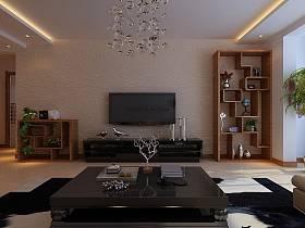 现代现代风格客厅背景墙电视背景墙装修效果展示