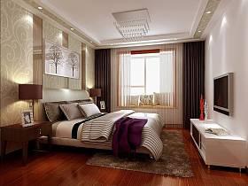 中式卧室吊顶设计案例