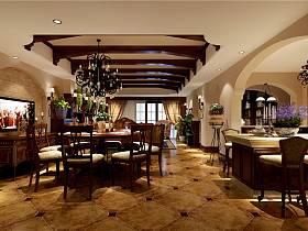 美式鄉村風格客廳設計圖