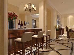 新古典古典新古典風格古典風格吧臺過道裝修效果展示