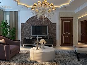 歐式歐式風格客廳背景墻電視背景墻設計案例