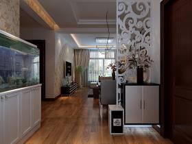 客厅玄关隔断灯具装修图