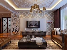 混搭混搭风格客厅背景墙电视背景墙设计方案