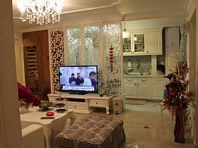 簡歐簡歐風格客廳背景墻電視背景墻設計圖