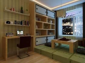 现代书房榻榻米设计图