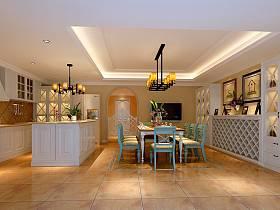 美式餐厅厨房酒柜图片
