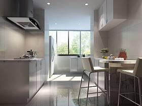 現代簡約廚房效果圖