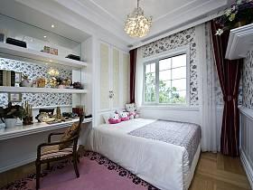 欧式儿童房吊顶窗帘设计案例