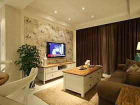 欧式简约客厅沙发茶几图片