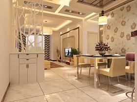 現代餐廳隔斷設計案例展示