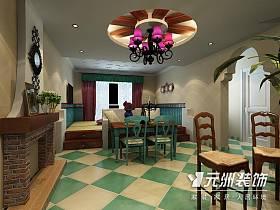 美式鄉村風格餐廳案例展示