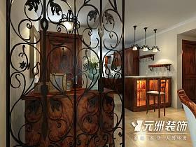 美式鄉村風格玄關玄關柜設計案例展示