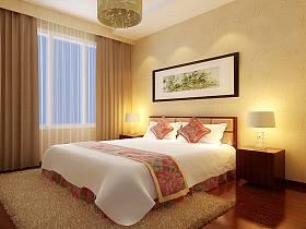 中式卧室设计案例