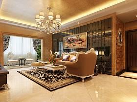 歐式歐式風格客廳背景墻沙發客廳沙發裝修效果展示