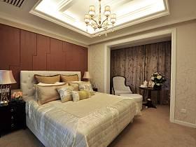 卧室吊顶窗帘效果图