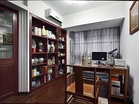 中式中式風格書房交換空間裝修案例
