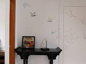 中式中式风格过道墙面装修效果展示