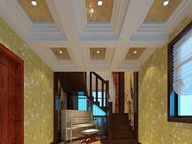 中式过道楼梯装修图