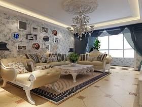 地中海地中海风格客厅装修案例