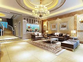 歐式歐式風格客廳吊頂背景墻沙發客廳沙發設計案例展示
