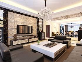 中式中式风格新中式客厅背景墙电视背景墙设计方案
