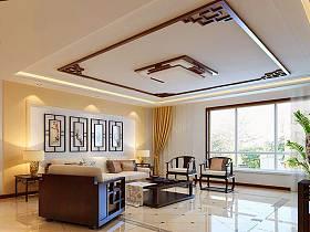 中式中式风格新中式客厅效果图