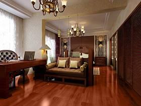 中式中式风格新中式卧室效果图