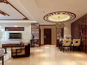 中式中式风格新中式餐厅效果图