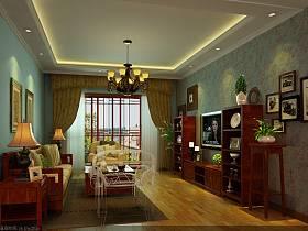 中式中式风格新中式客厅装修案例
