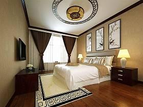 中式中式风格新中式卧室装修效果展示