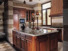 美式美式风格厨房别墅装修案例