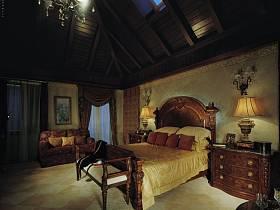 美式美式风格卧室别墅装修案例
