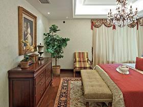 美式鄉村風格臥室裝修圖