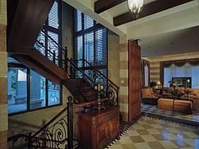 美式古典美式古典风格古典风格过道装修图