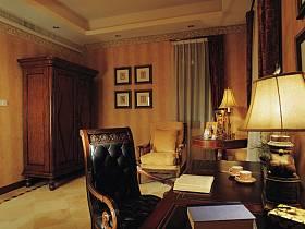 美式古典美式古典風格古典風格書房裝修圖