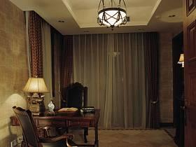 美式美式風格書房別墅裝修效果展示