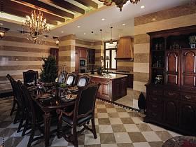美式美式風格餐廳別墅設計方案