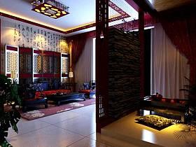 中式中式風格休閑區設計方案
