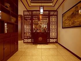 中式中式風格玄關玄關柜裝修案例