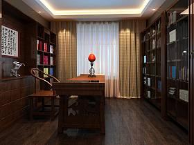 中式中式风格书房图片