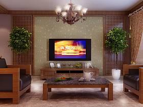 中式中式风格客厅设计图