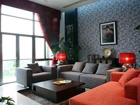 中式客厅沙发单人沙发设计图