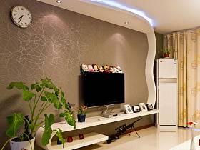 现代现代风格客厅吊顶电视背景墙设计方案