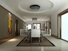 现代现代风格餐厅吊顶装修效果展示