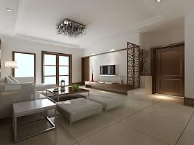 现代现代风格客厅吊顶电视背景墙设计案例